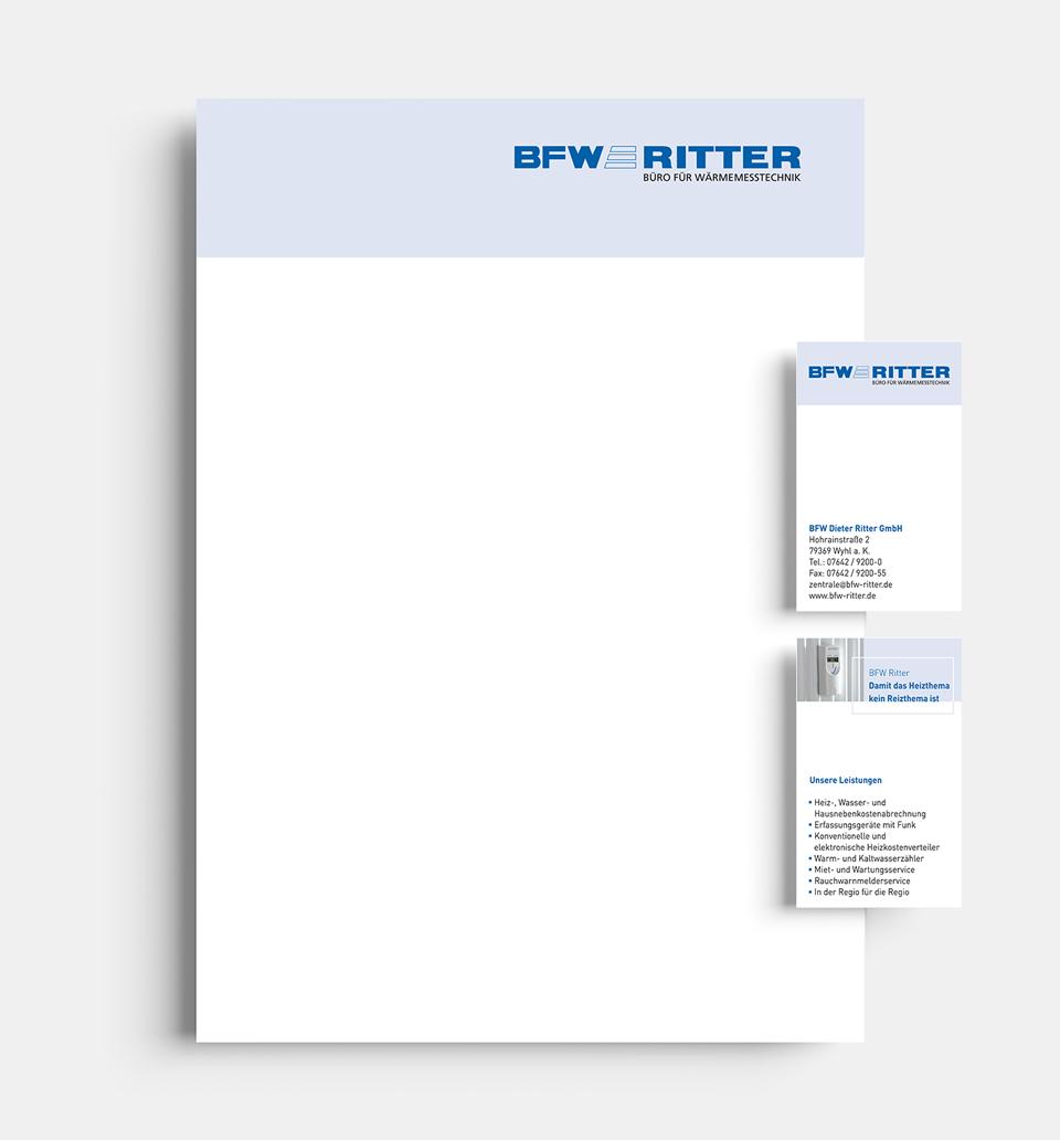 DRWA Das Rudel Werbeagentur Freiburg > Kompetenzen > Corporate-Design > BFW Ritter, Wyhl a.K.