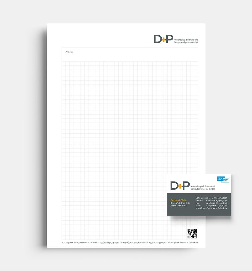 DRWA Das Rudel Werbeagentur Freiburg > Kompetenzen > Corporate-Design > Beispiel 02 > Kunde D+P Sofwarelösungen, Gutach