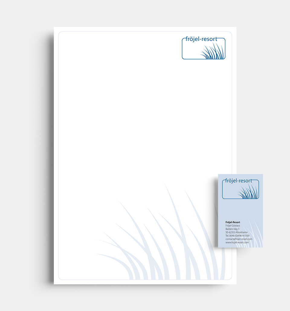 DRWA Das Rudel Werbeagentur Freiburg > Kompetenzen > Corporate-Design > Beispiel 04 > Kunde Fröjel Resort, Gotland