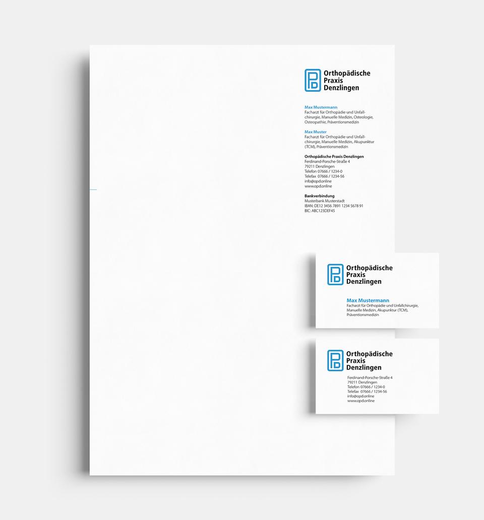 DRWA Das Rudel Werbeagentur Freiburg > Kompetenzen > Corporate-Design > Beispiel 10 > Kunde Orthopädische Praxis Denzlingen