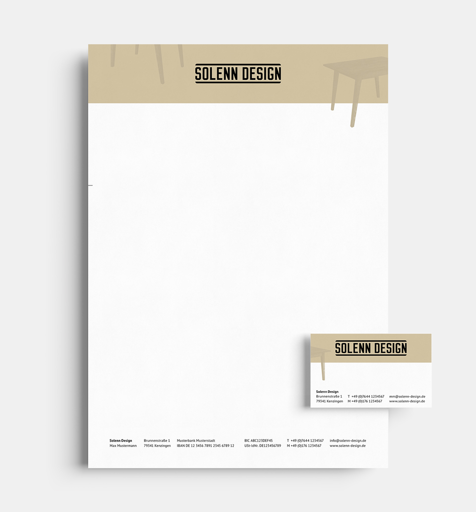 DRWA Das Rudel Werbeagentur Freiburg > Kompetenzen > Corporate-Design > Beispiel 04 > Kunde  Solenn Antikholz-Möbel, Kenzingen