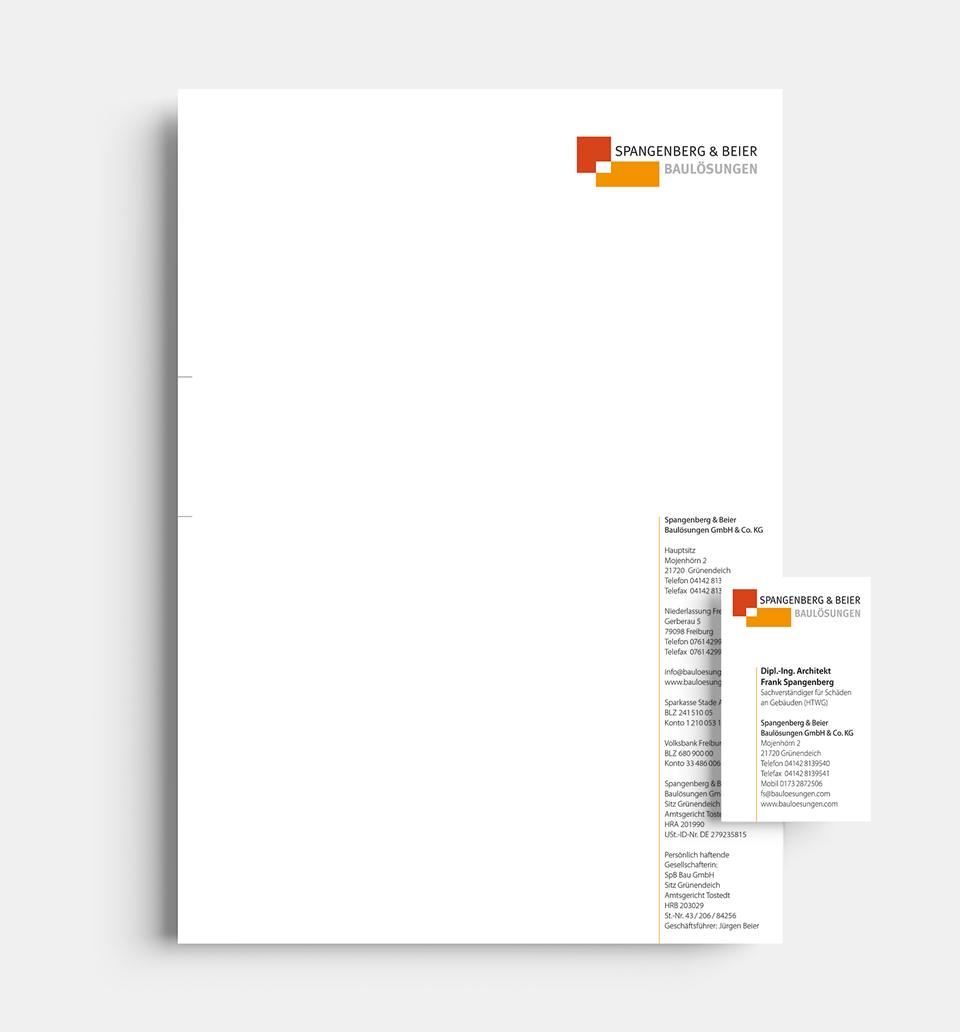 DRWA Das Rudel Werbeagentur Freiburg > Kompetenzen > Corporate-Design > Beispiel 10 > Kunde Spangenberg & Beier Baulösungen, Freiburg