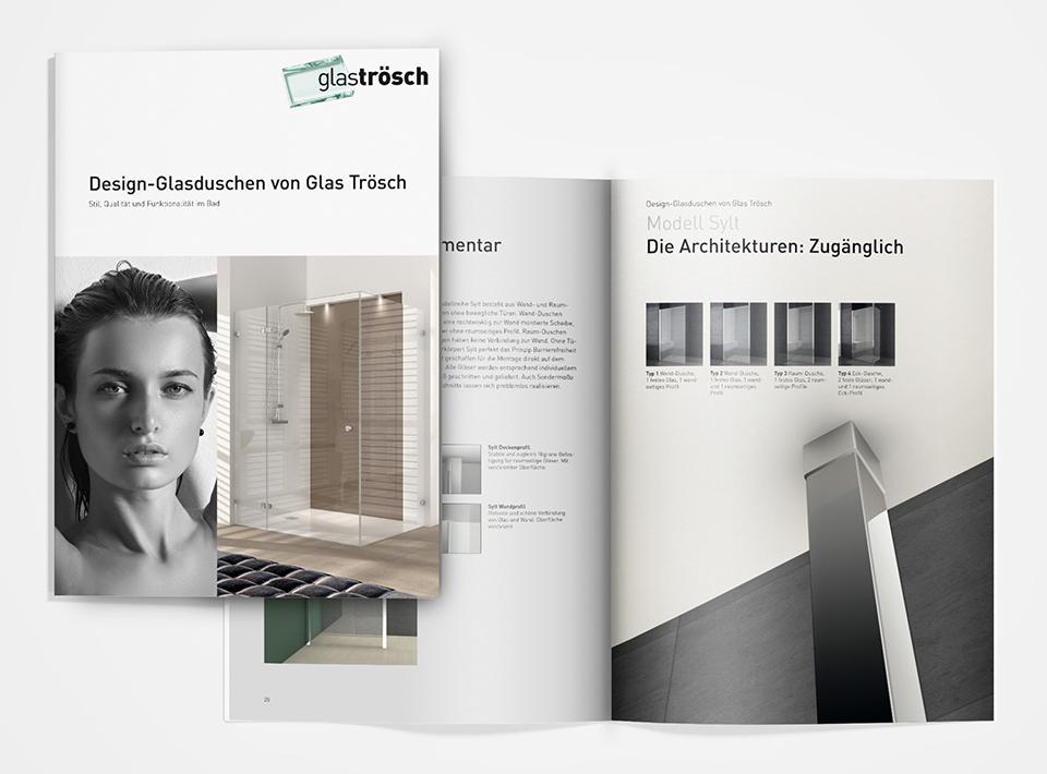 DRWA Das Rudel Werbeagentur Freiburg > Kompetenzen > Print-Design > Glas Trösch, Ulm