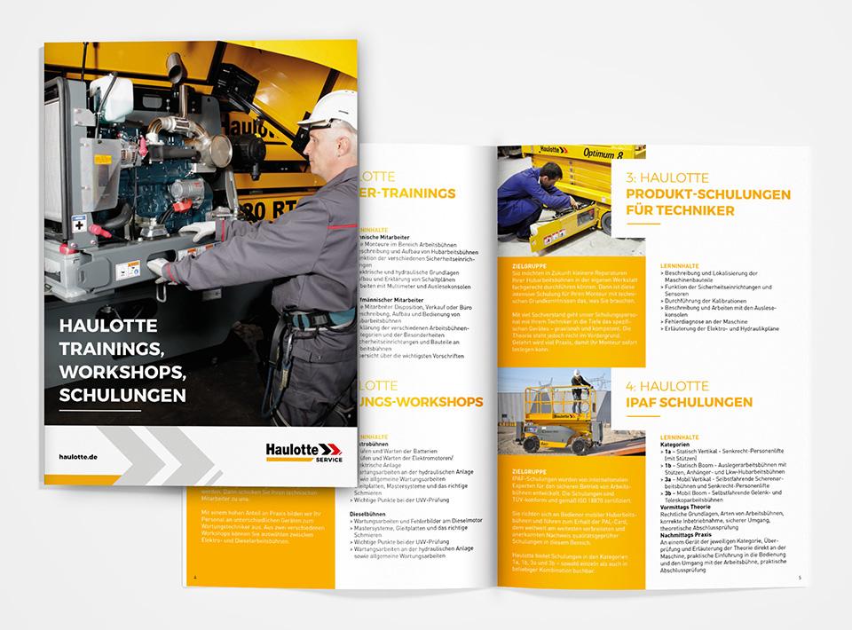 DRWA Das Rudel Werbeagentur Freiburg > Kompetenzen > Print-Design > Haulotte Hubarbeitsbühnen, Eschbach