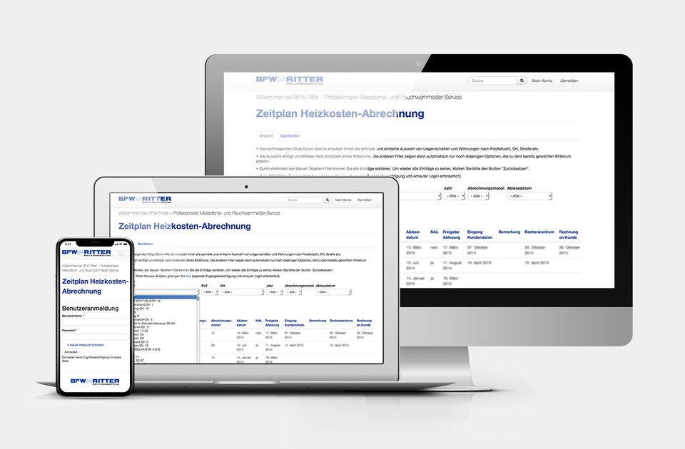 DRWA Das Rudel Werbeagentur Freiburg > Kompetenzen > Web-Design/-Programmierung > Beispiel BFW Ritter Wyhl a.K.