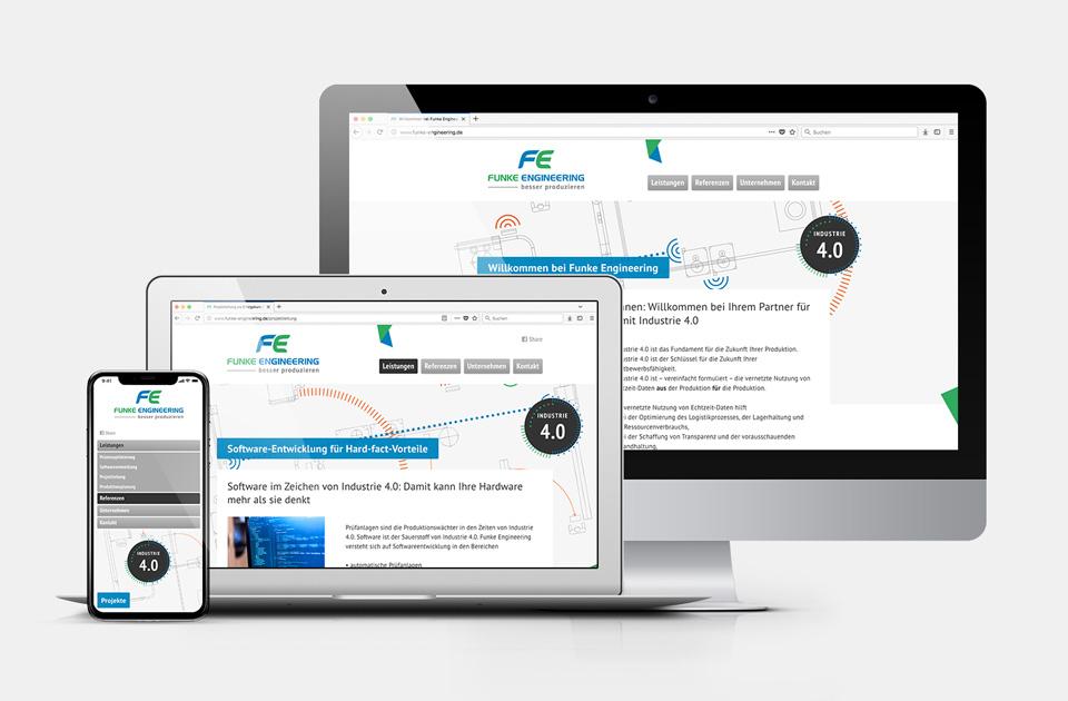 DRWA Das Rudel Werbeagentur Freiburg > Kompetenzen > Web-Design/-Programmierung > Beispiel Funke Engineering, Umkirch b.Freiburg