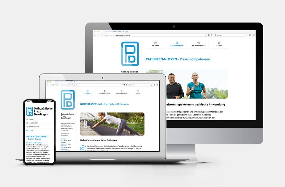 DRWA Das Rudel Werbeagentur Freiburg > Kompetenzen > Web-Design > Orthopädische Praxis Denzlingen