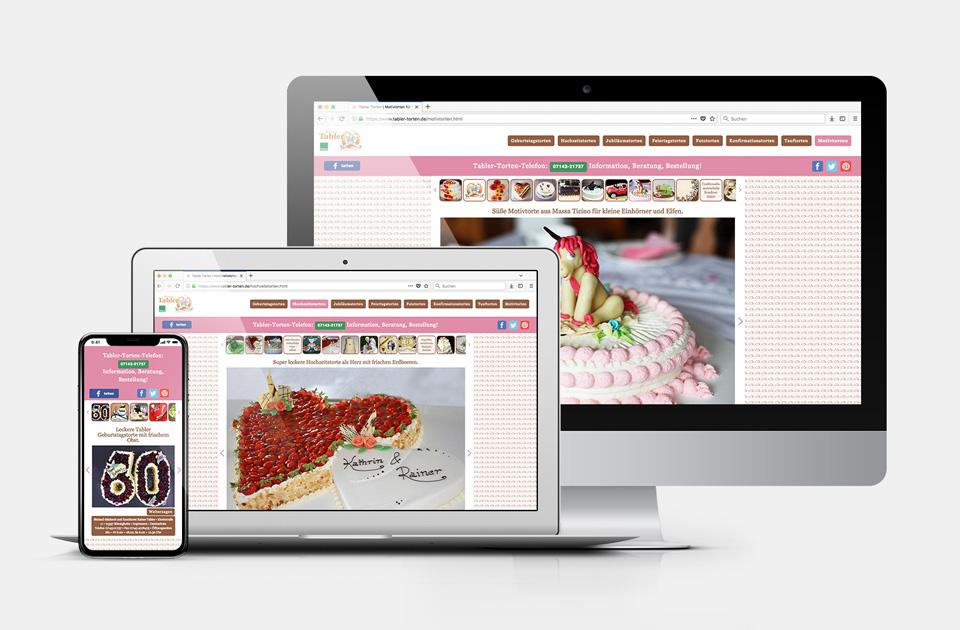 DRWA Das Rudel Werbeagentur Freiburg > Kompetenzen > Web-Design > Tabler Torten, Bönnigheim