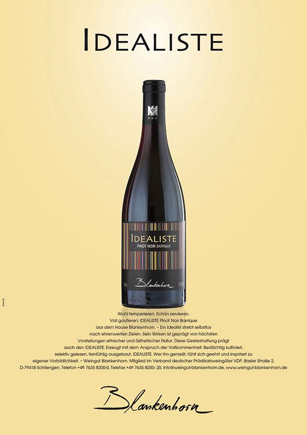 DRWA Das Rudel Werbeagentur Freiburg > Agentur für mediale Kommunikation > Awards > 2011 > Jahrbuch der Werbung > Weingut Blankenhorn