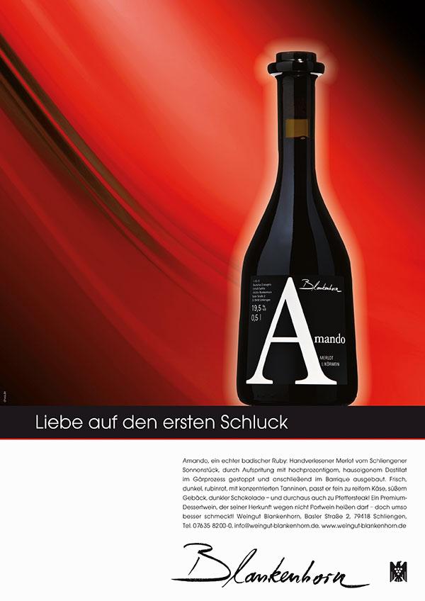 DRWA Das Rudel Werbeagentur Freiburg > Agentur für mediale Kommunikation > Awards > 2013 > Das Jahr der Werbung > Weingut Blankenhorn