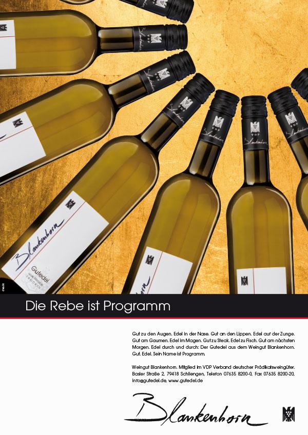 DRWA Das Rudel Werbeagentur Freiburg > Agentur für mediale Kommunikation > Awards > 2014 > Das Jahr der Werbung > Weingut Blankenhorn