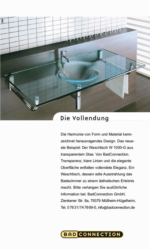 DRWA Das Rudel Werbeagentur Freiburg > Agentur für mediale Kommunikation > Awards > 2005 > Jahrbuch der Werbung > BadConnection